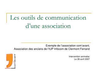 Les outils de communication d�une association