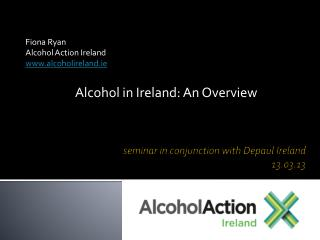 seminar in conjunction with  D epaul Ireland  13.03.13