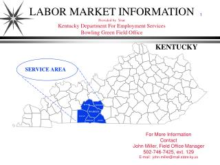 LABOR MARKET INFORMATION Provided by  Your  Kentucky Department For Employment Services Bowling Green Field Office