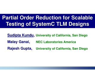 Partial Order Reduction for Scalable Testing of SystemC TLM Designs