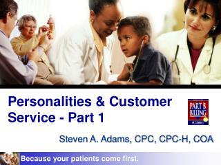Personalities & Customer Service - Part 1