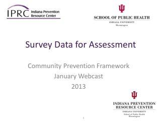 Survey Data for Assessment