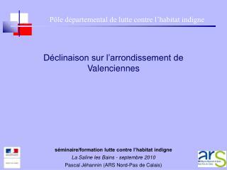 Déclinaison sur l'arrondissement de Valenciennes