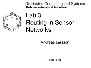 Lab 3 Routing in Sensor Networks