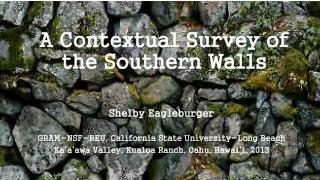 A Contextual Survey of the Southern Walls