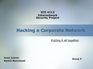 Hacking a Corporate Network