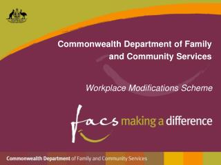 Commonwealth Department of Family and Community Services
