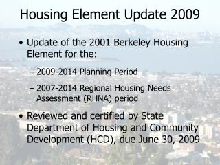 Housing Element Update 2009