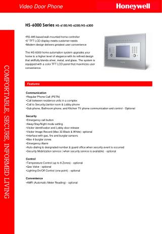 "RS-485 based wall-mounted home controller 5"" TFT LCD display meets customer needs  Modern design delivers greatest user"