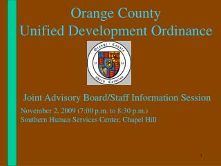 Orange County  Unified Development Ordinance