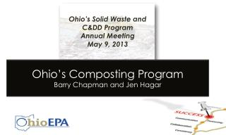 Ohio�s Solid Waste and C&DD Program        Annual  Meeting May 9, 2013