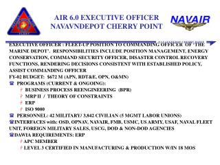 AIR 6.0 EXECUTIVE OFFICER NAVAVNDEPOT CHERRY POINT