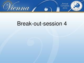 Break-out-session  4