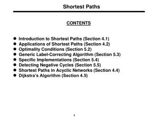 Shortest Paths