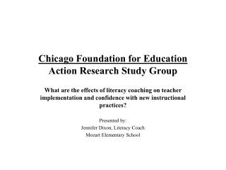 Chicago Foundation for Education Action Research Study Group