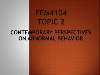 Fem4104 Topic 2