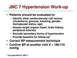JNC 7 Hypertension Work-up