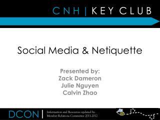Social Media & Netiquette