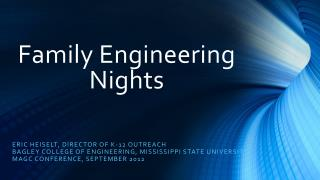 Family Engineering Nights