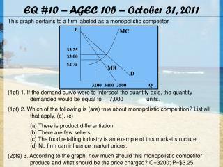 EQ #10 – AGEC 105 – October 31, 2011