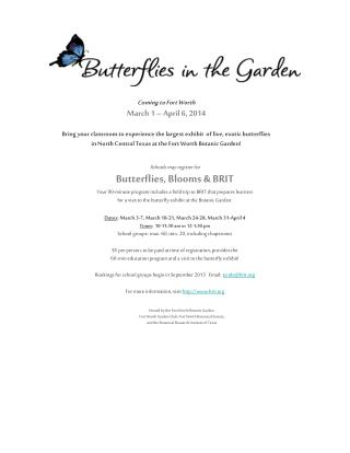 Hosted by the Fort Worth Botanic Garden,   Fort Worth Garden Club, Fort Worth Botanical Society,  and the Botanical Res