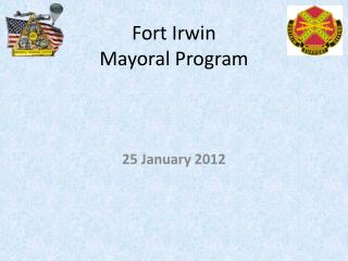 Fort Irwin  Mayoral Program