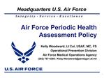 Air Force Periodic Health Assessment Policy