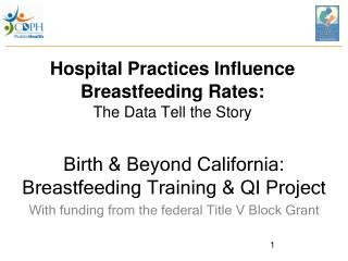 Hospital Practices Influence Breastfeeding Rates: The Data Tell the Story