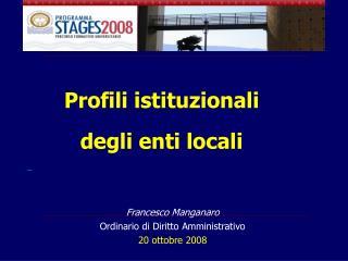 Profili istituzionali  degli enti locali
