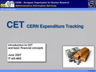 CET   CERN Expenditure Tracking