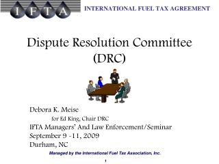 Dispute Resolution Committee (DRC)