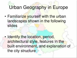Urban Geography in Europe