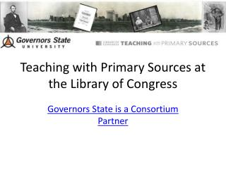 Teaching with Primary Sources at the Library of Congress