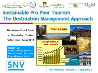 Sustainable Pro Poor Tourism The Destination Management Approach