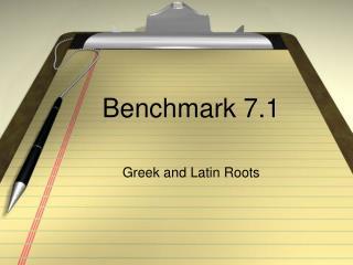 Benchmark 7.1