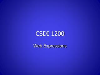 CSDI 1200