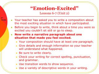 """Emotion-Excited""  Lessons 6-7 (Unit 2)"