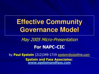 Effective Community Governance Model