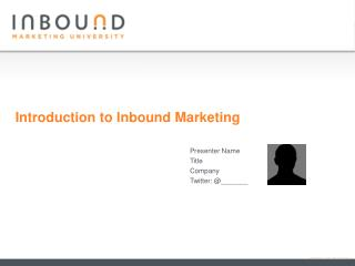 Introduction to Inbound Marketing