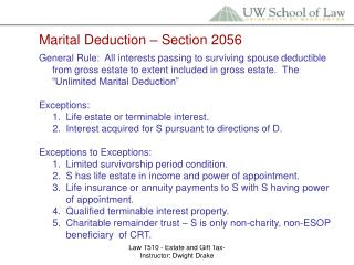 Marital Deduction � Section 2056