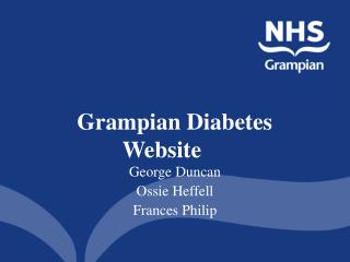 Grampian Diabetes Website