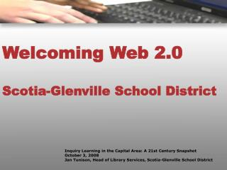 Welcoming Web 2.0 Scotia-Glenville School District