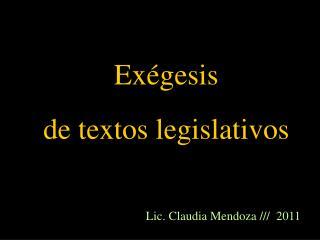 Exégesis  de textos legislativos