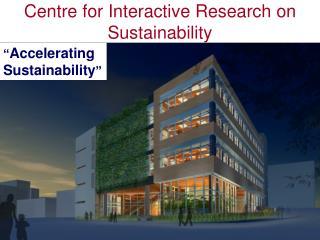 � Accelerating Sustainability �