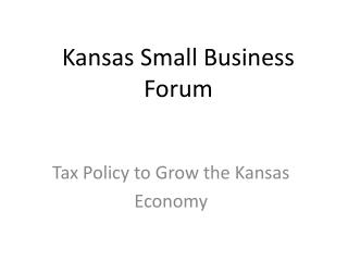 Kansas Small Business Forum