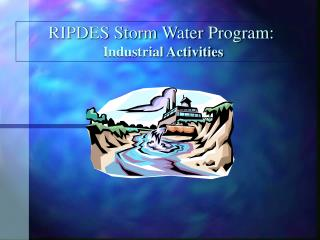 RIPDES Storm Water Program: Industrial Activities