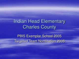 Indian Head Elementary Charles County