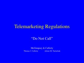 Telemarketing Regulations