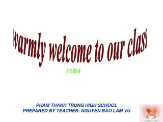 warmly welcome to our class