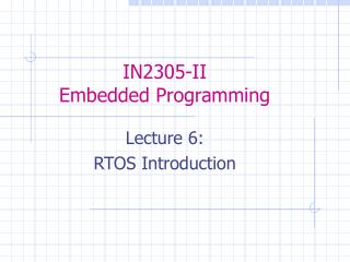 IN2305-II Embedded Programming